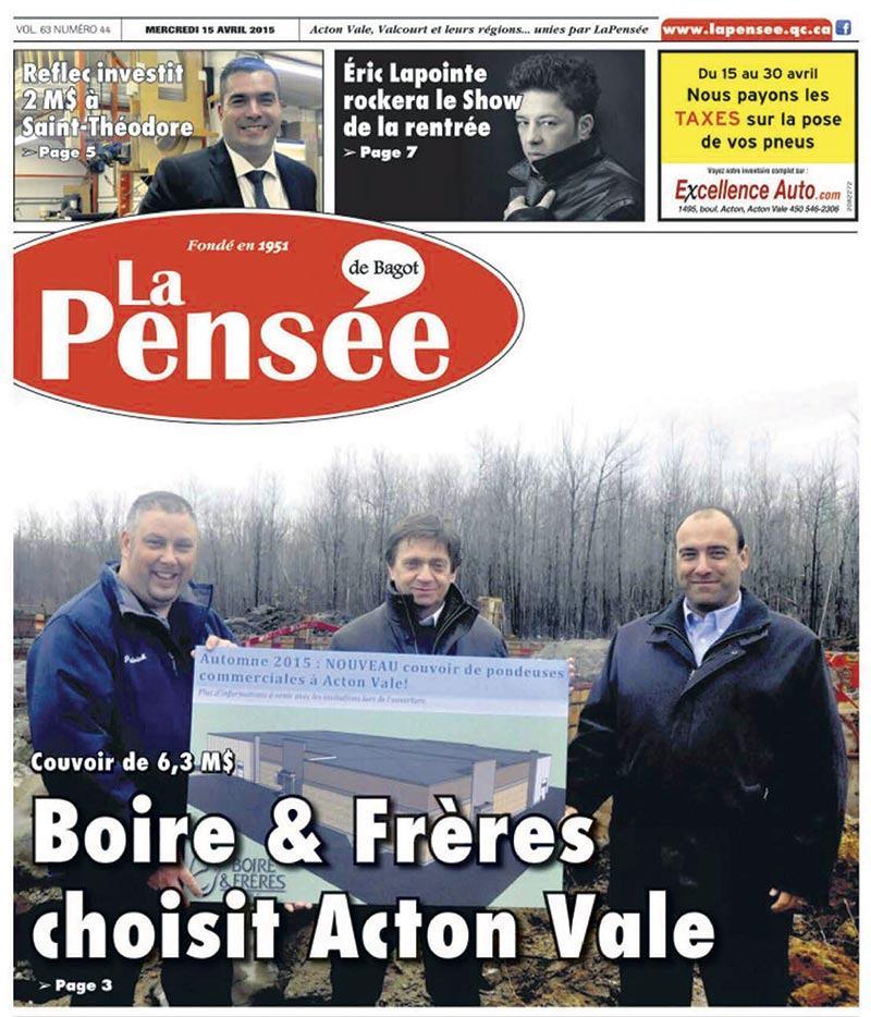 Front-page-La-pensee-Avril-2015-BoireEtFreres-Couvoir-Acton